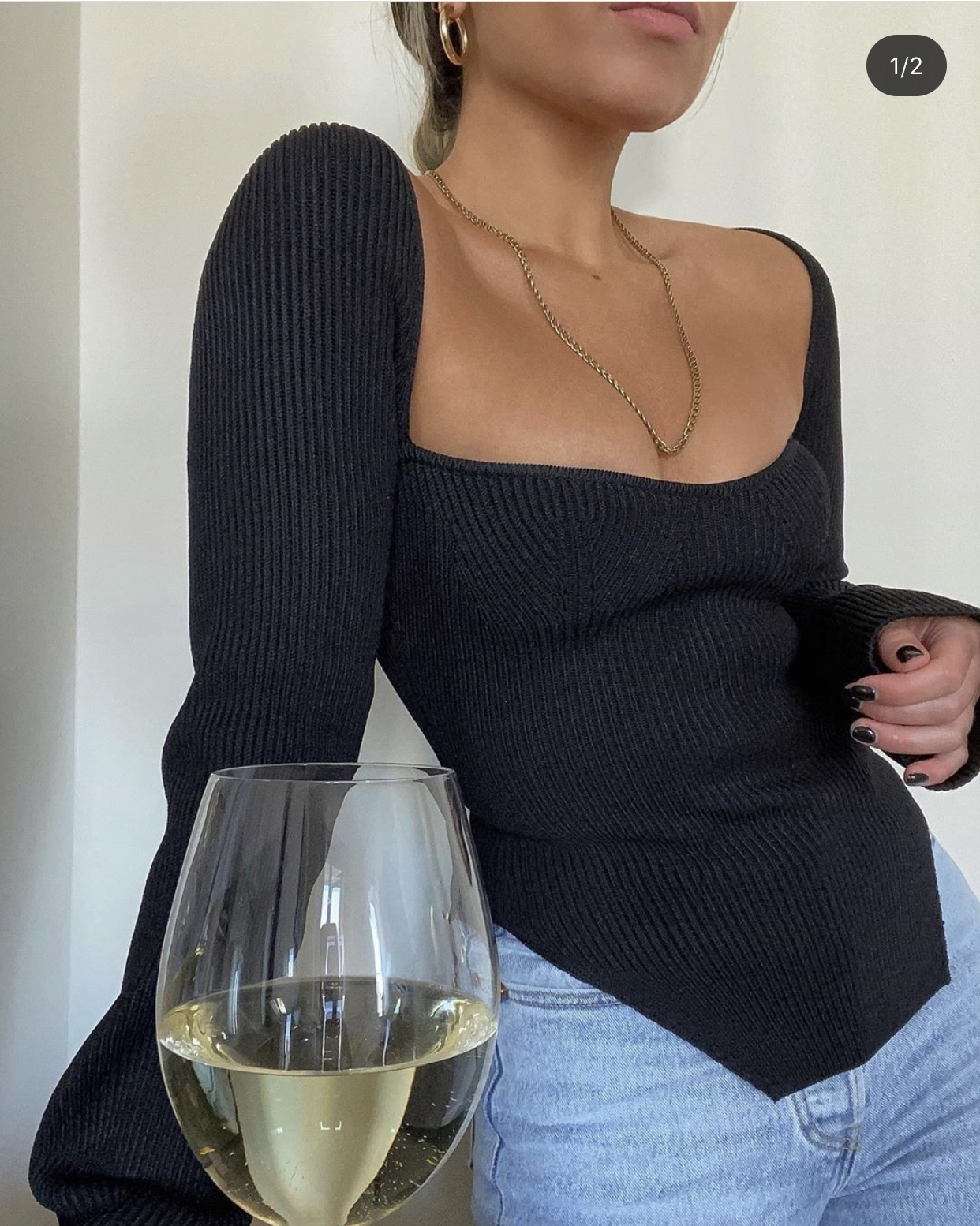 Sofia Knit Top Black Lola Rae Fashion